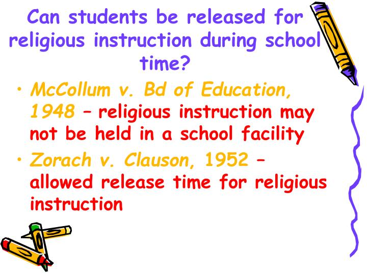 Can students be released for religious instruction during school time?