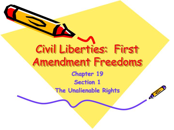 Civil liberties first amendment freedoms