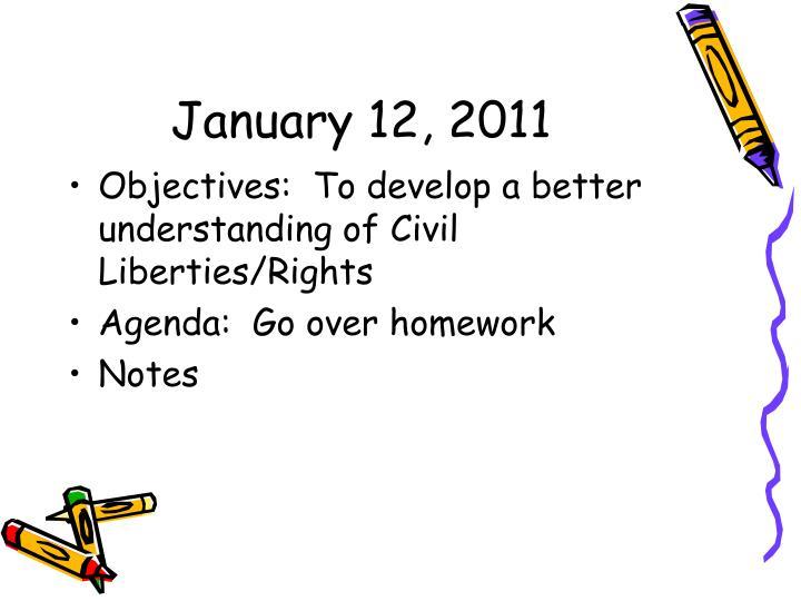 January 12, 2011