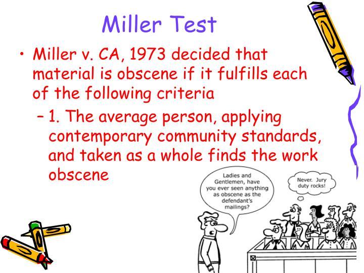 Miller Test