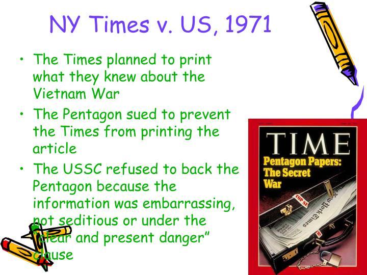 NY Times v. US, 1971