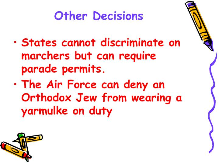 Other Decisions