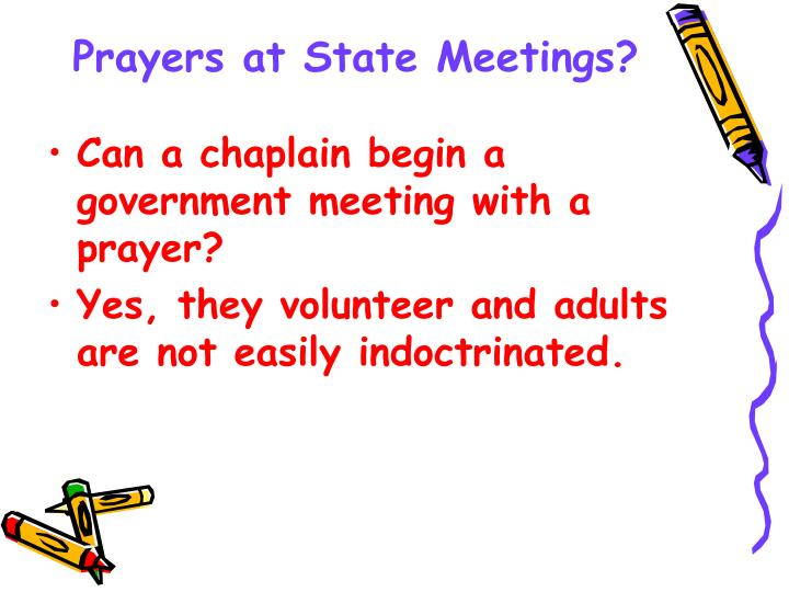 Prayers at State Meetings?