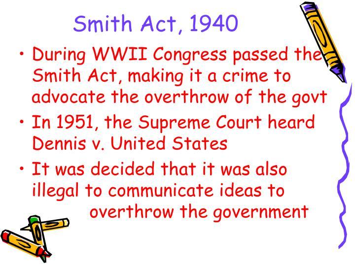 Smith Act, 1940
