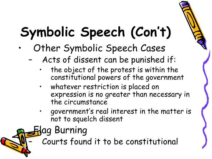 Symbolic Speech (Con't)