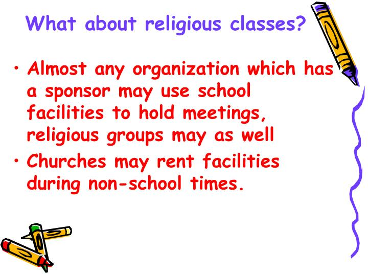 What about religious classes?