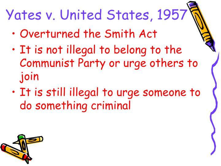 Yates v. United States, 1957
