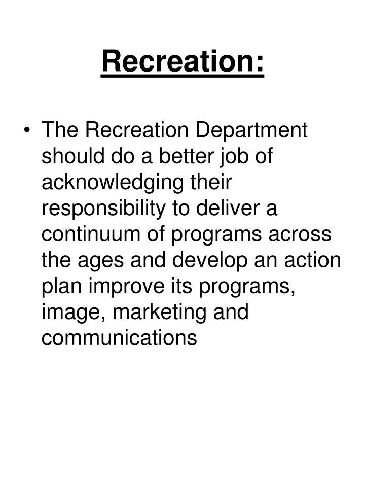 Recreation: