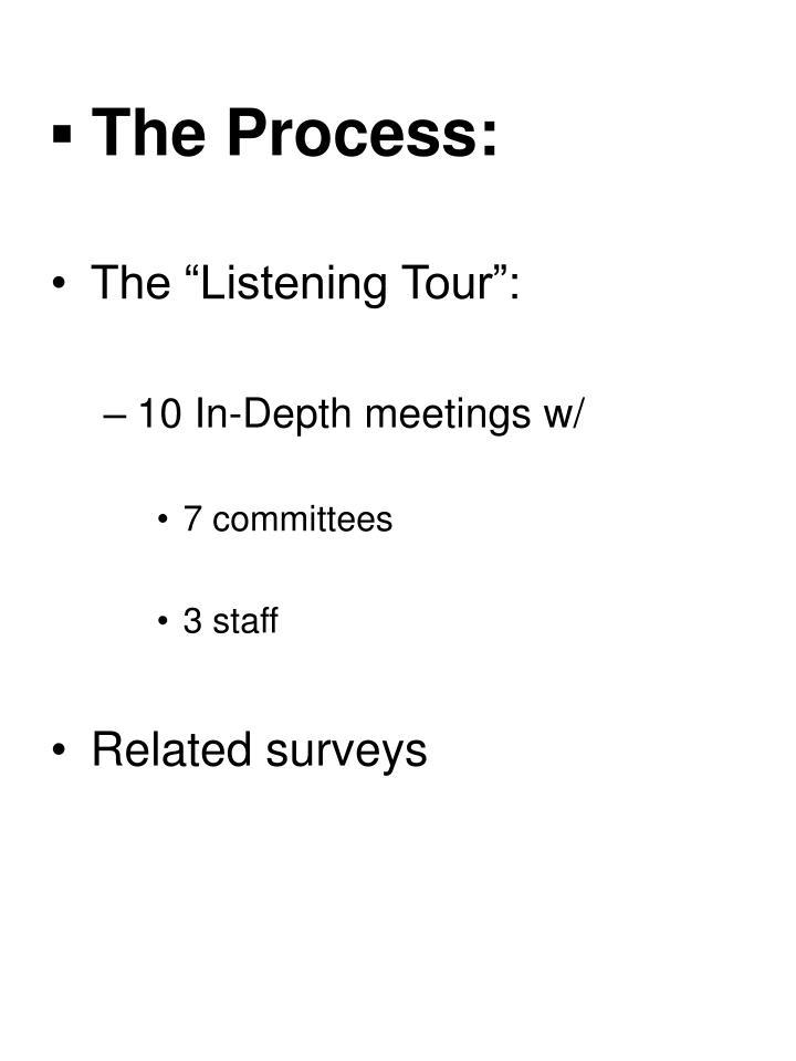 ▪ The Process: