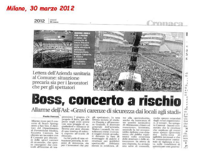 Milano, 30 marzo 2012