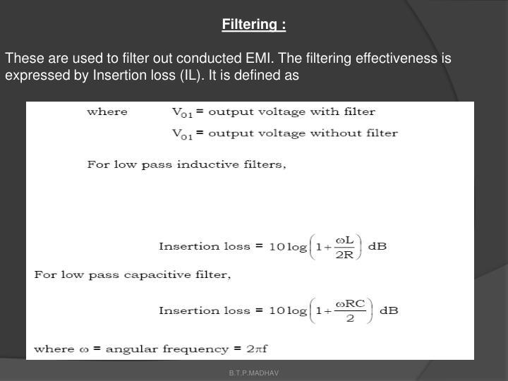 Filtering :
