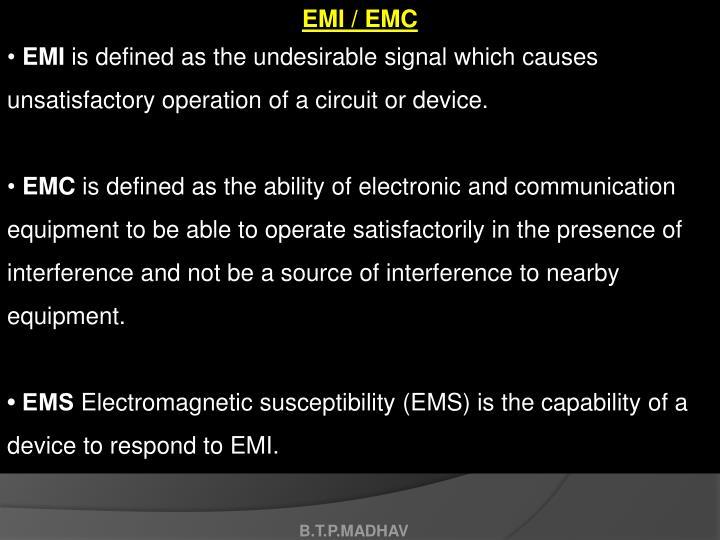 EMI / EMC