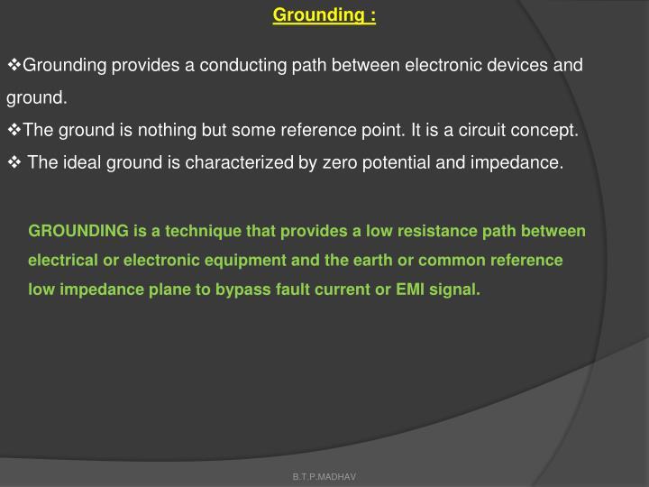 Grounding :
