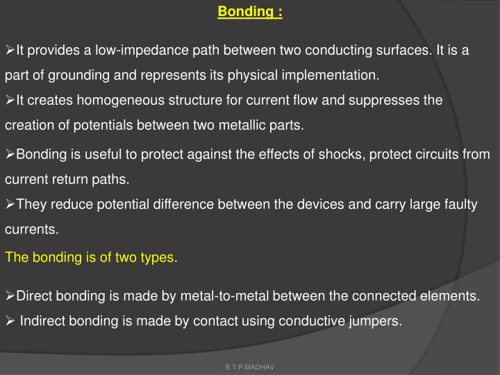 Bonding :