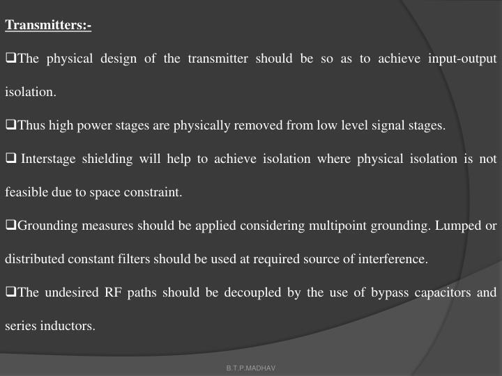 Transmitters:-