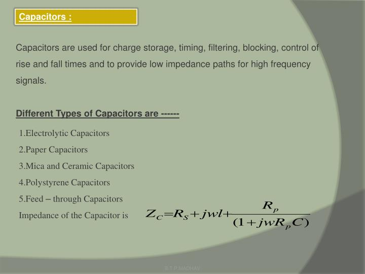 Capacitors :