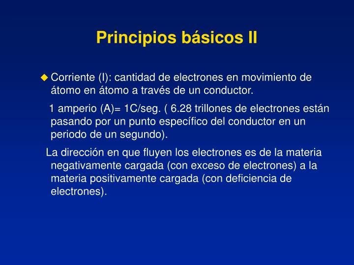 Principios básicos II