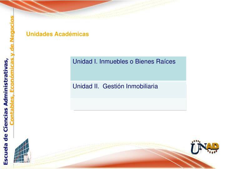 Unidades Académicas