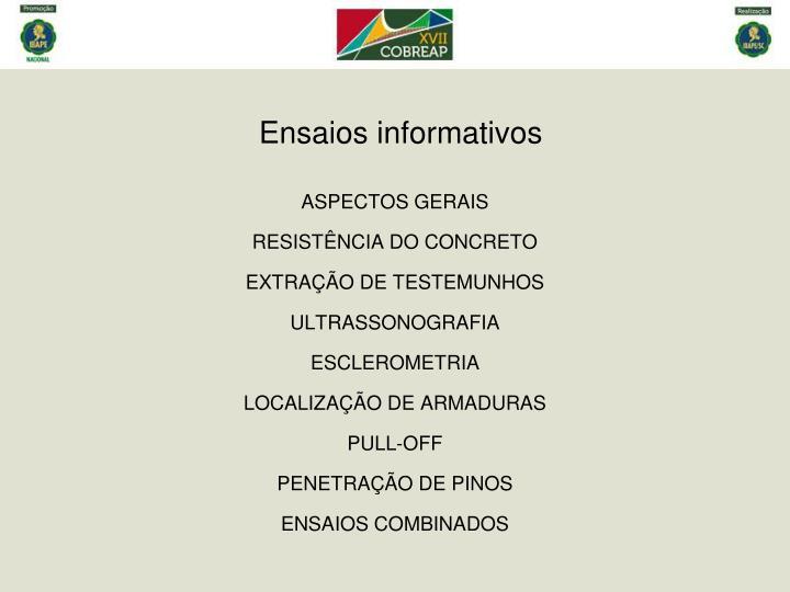 Ensaios informativos