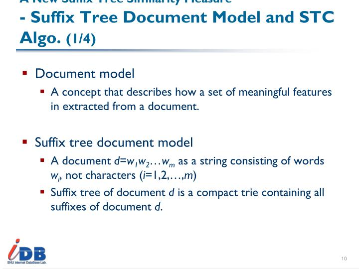 A New Suffix Tree Similarity Measure