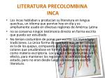 literatura precolombina inca