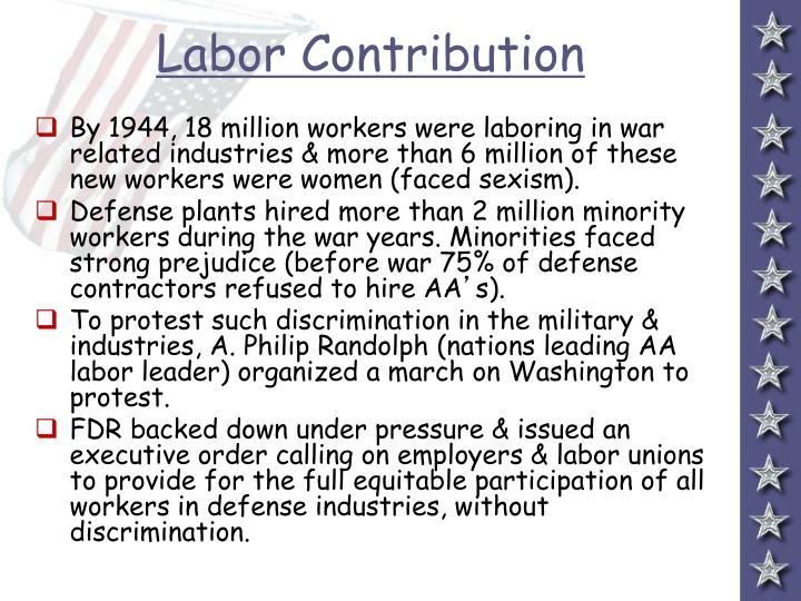 Labor Contribution