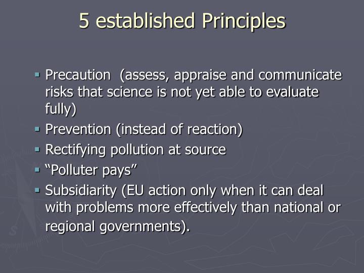 5 established Principles