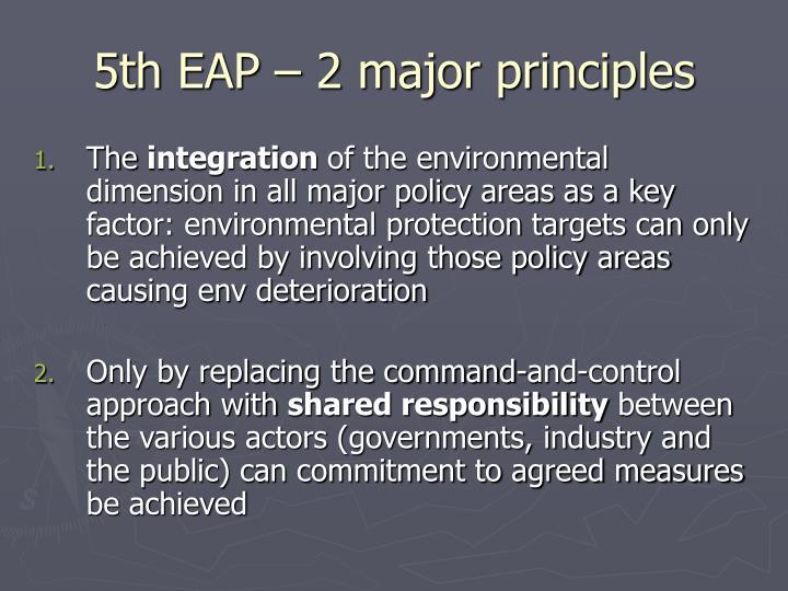 5th EAP – 2 major principles