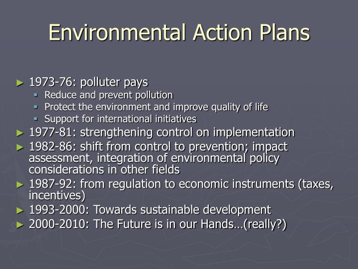 Environmental Action Plans