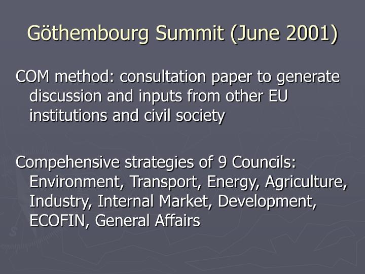 Göthembourg Summit (June 2001)