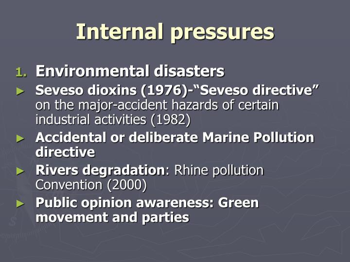 Internal pressures