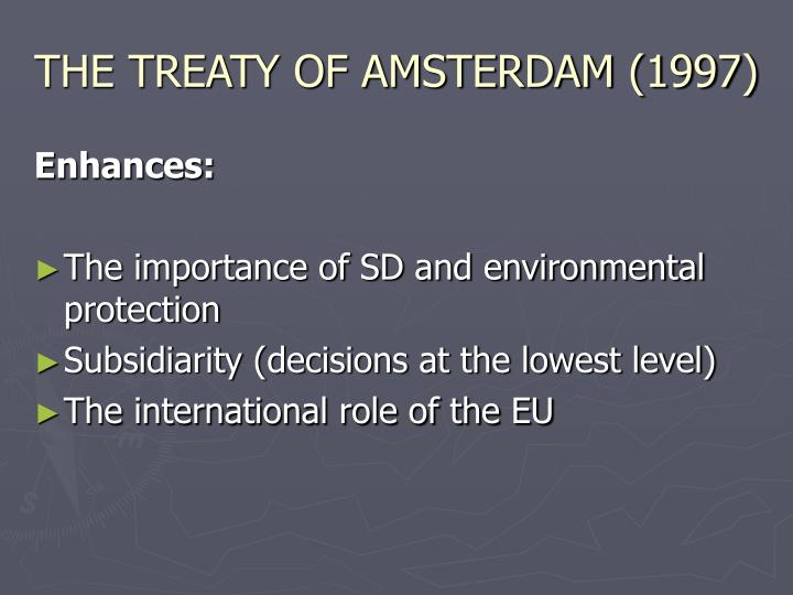 THE TREATY OF AMSTERDAM (1997)