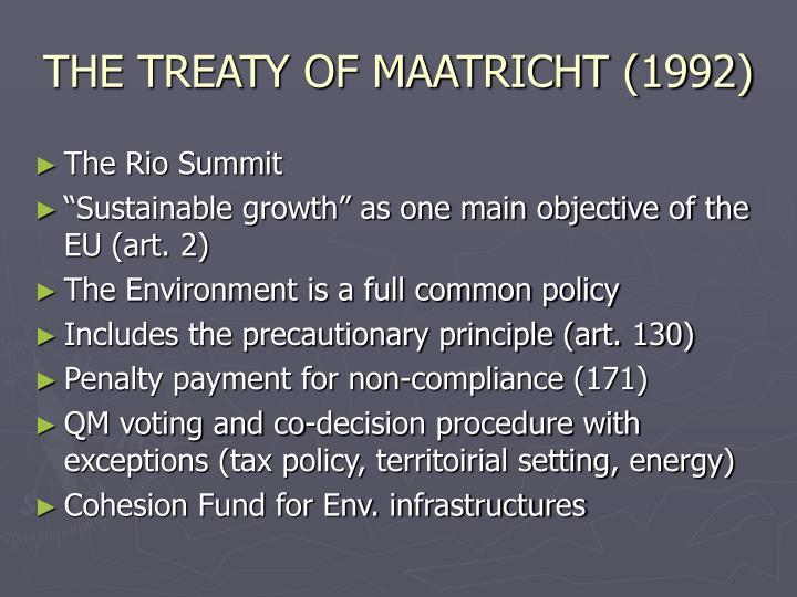 THE TREATY OF MAATRICHT (1992)