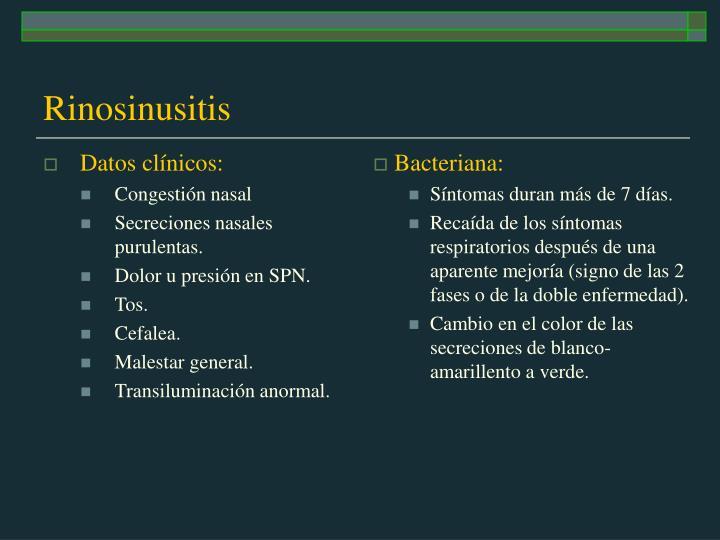 Datos clínicos: