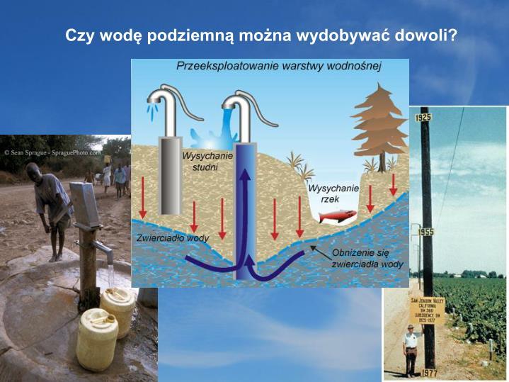 Czy wodę podziemną można wydobywać dowoli?