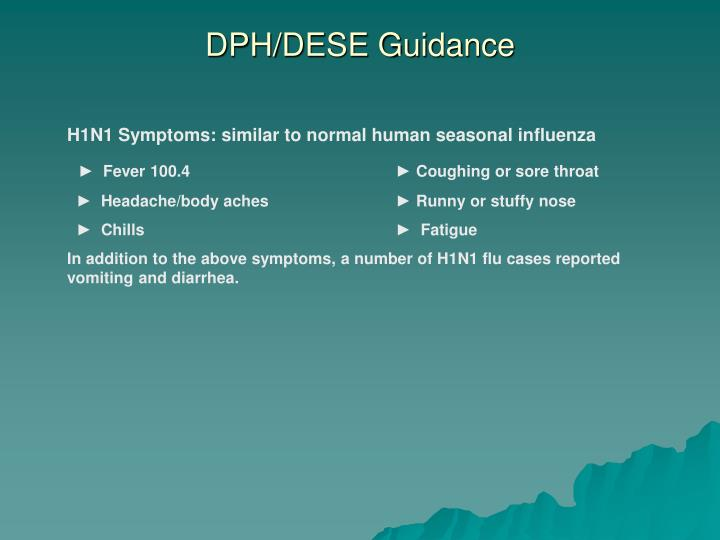 DPH/DESE Guidance