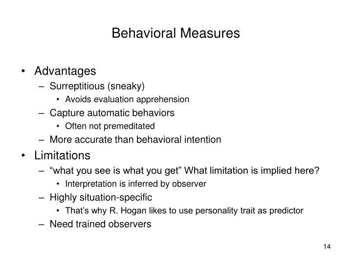 Behavioral Measures