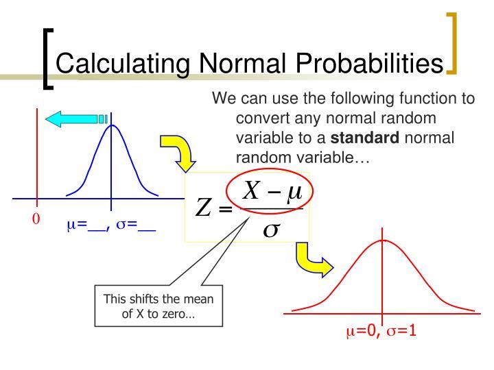 Calculating Normal Probabilities