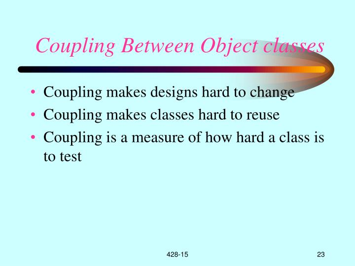 Coupling Between Object classes