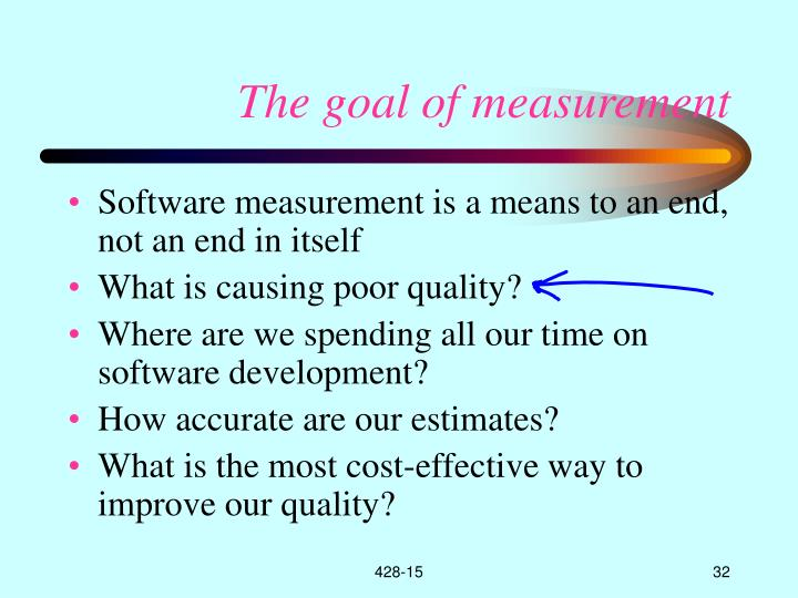 The goal of measurement