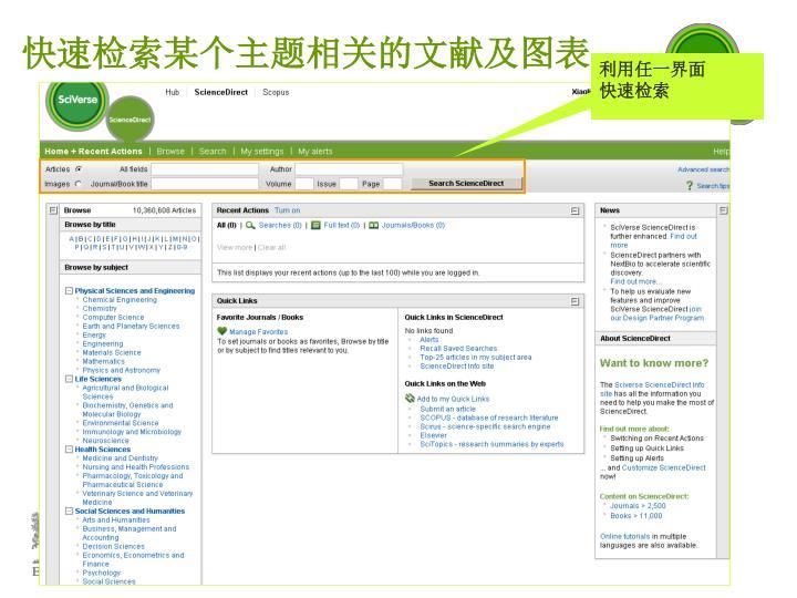 快速检索某个主题相关的文献及图表