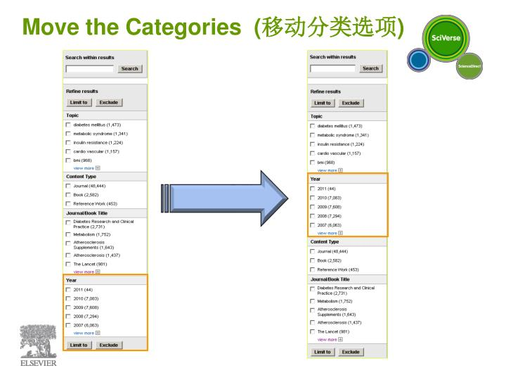 Move the Categories
