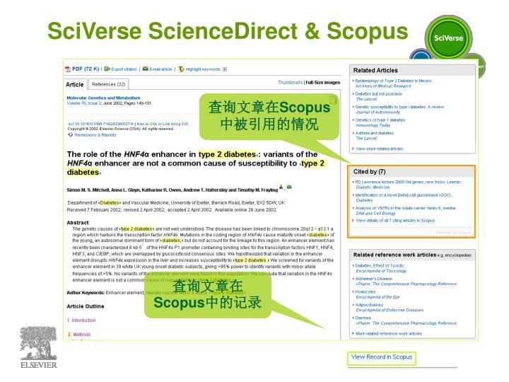 SciVerse ScienceDirect & Scopus