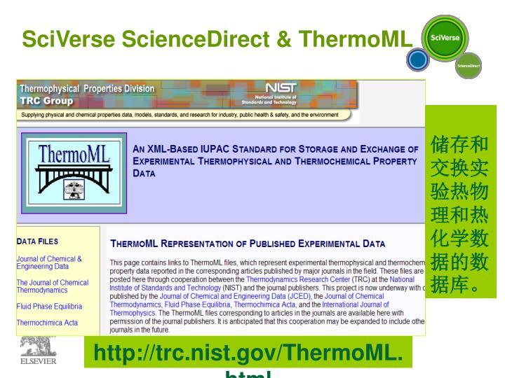 SciVerse ScienceDirect & ThermoML