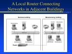 a local router connecting networks in adjacent buildings