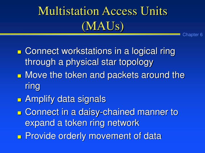 Multistation access units maus