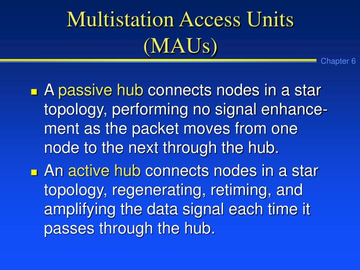 Multistation access units maus1
