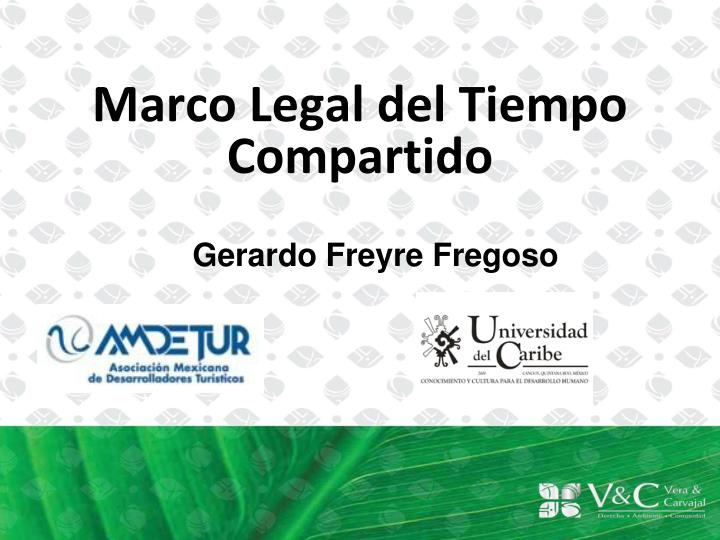 Marco legal del tiempo compartido