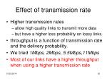 effect of transmission rate