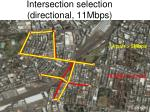 intersection selection directional 11mbps